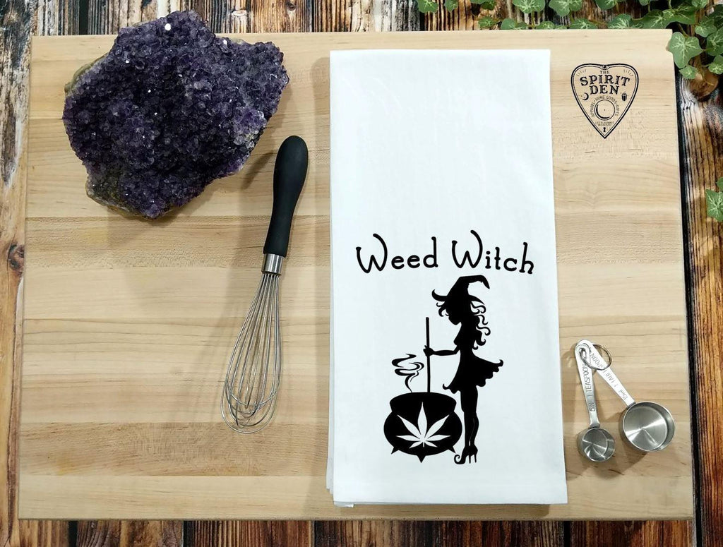 Weed Witch Flour Sack Towel