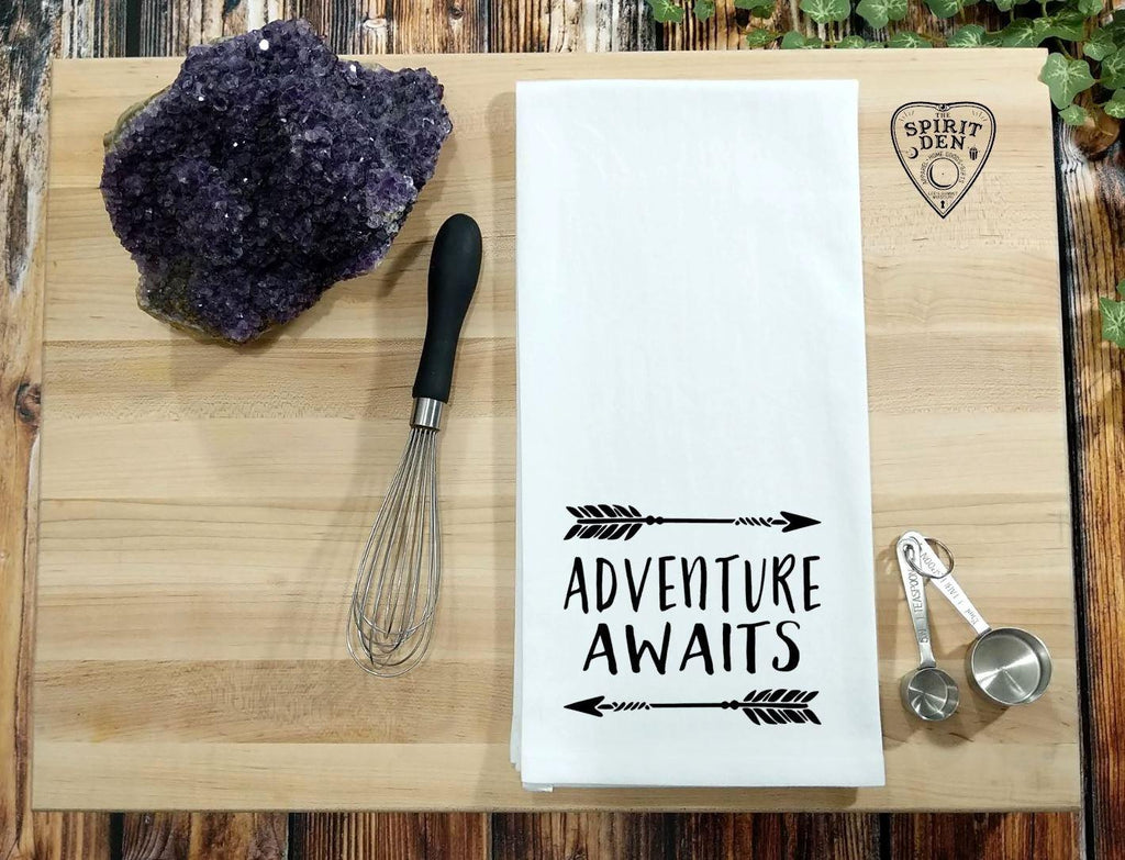 Adventure Awaits Flour Sack Towel