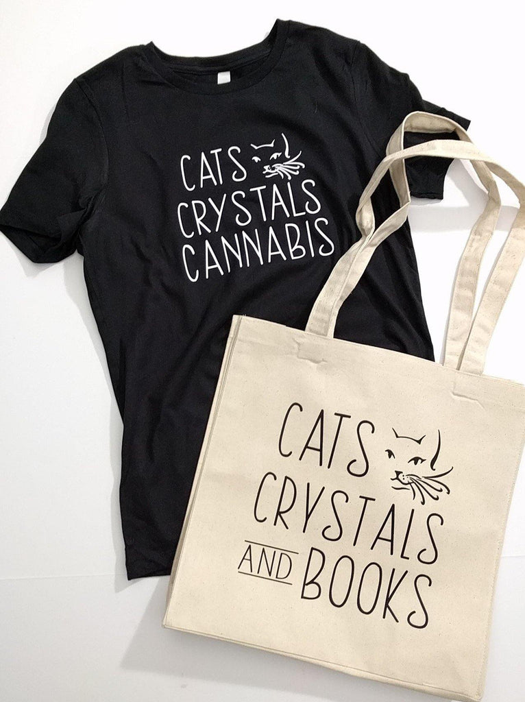 Cats Crystals and Cannabis Shirt Extended Sizes