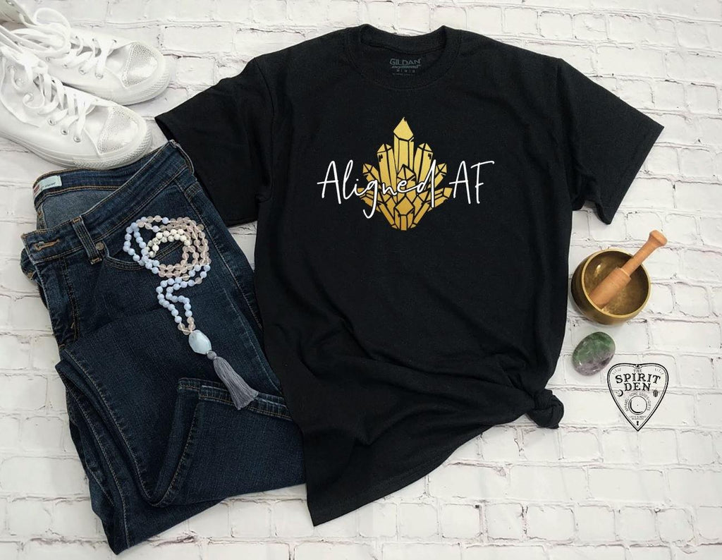 Aligned AF Gold Metallic Design T-Shirt