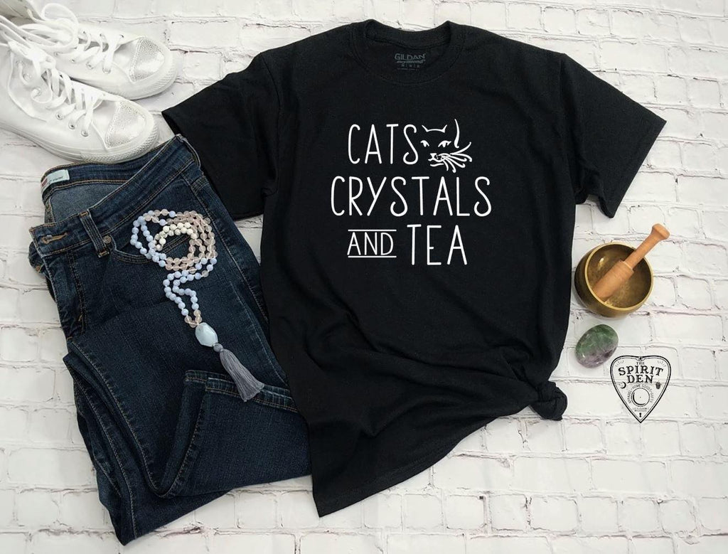 Cats Crystals and Tea T-Shirt