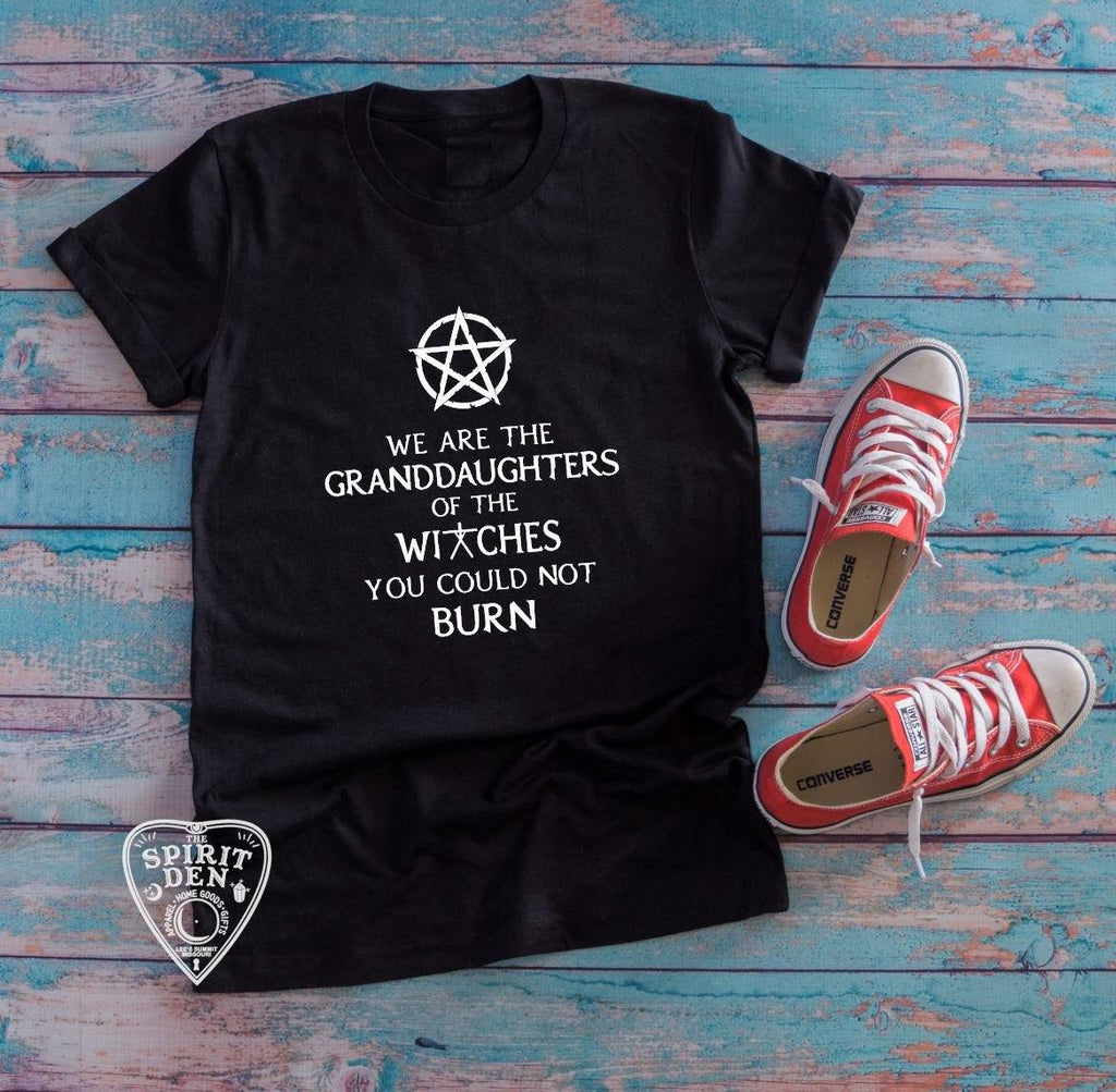 We are the Granddaughters of the Witches You Could Not Burn Pentacle T-Shirt