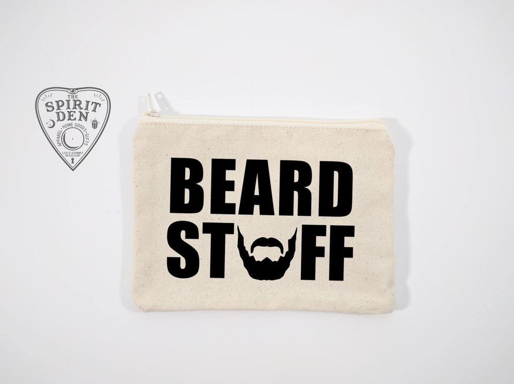 Beard Stuff Canvas Zipper Bag