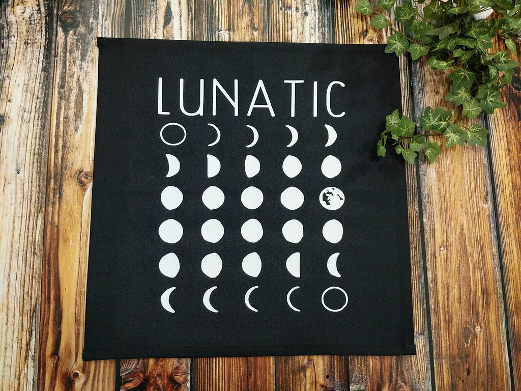 Lunatic Moon Phases Altar Cloth