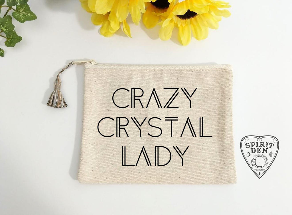 Crazy Crystal Lady Canvas Zipper Bag