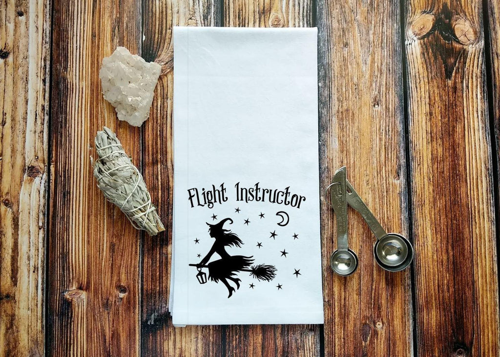 Flight Instructor Witch Flour Sack Towel
