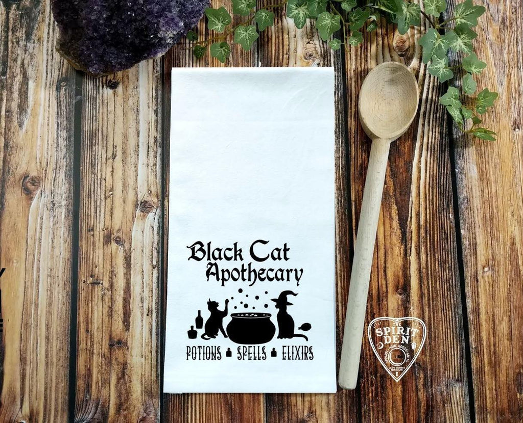 Black Cat Apothecary Flour Sack Towel