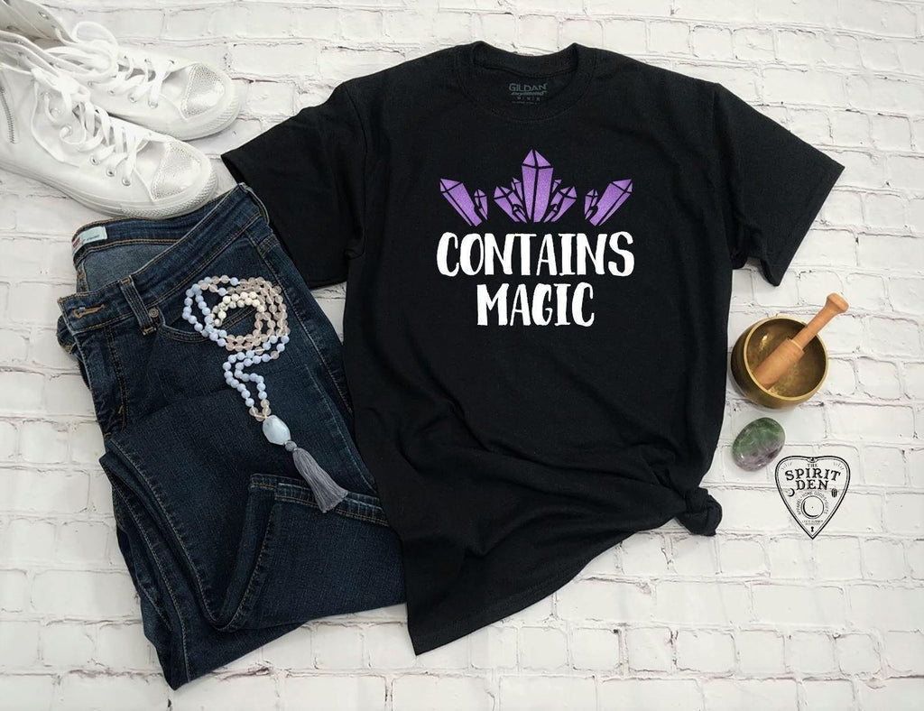 Contains Magic Purple Crystals T-Shirt