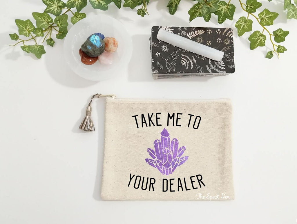 Take Me To Your Dealer Canvas Zipper Bag