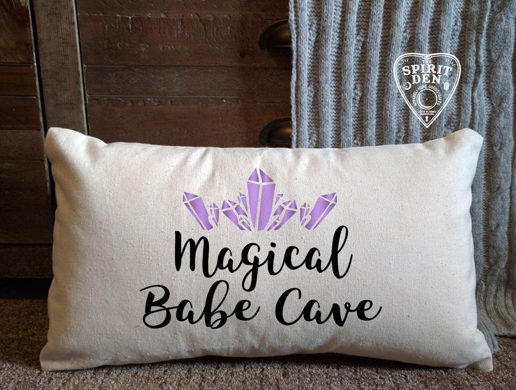 Magical Babe Cave Cotton Lumbar Natural Pillow