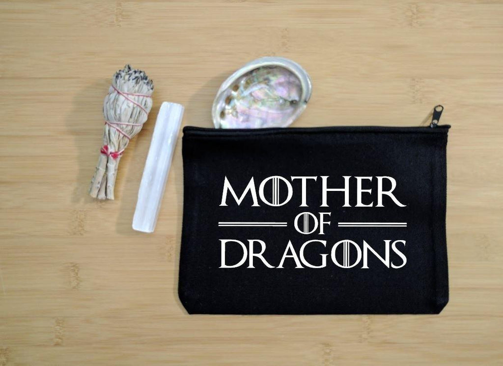 Mother of Dragons Black Canvas Zipper Bag