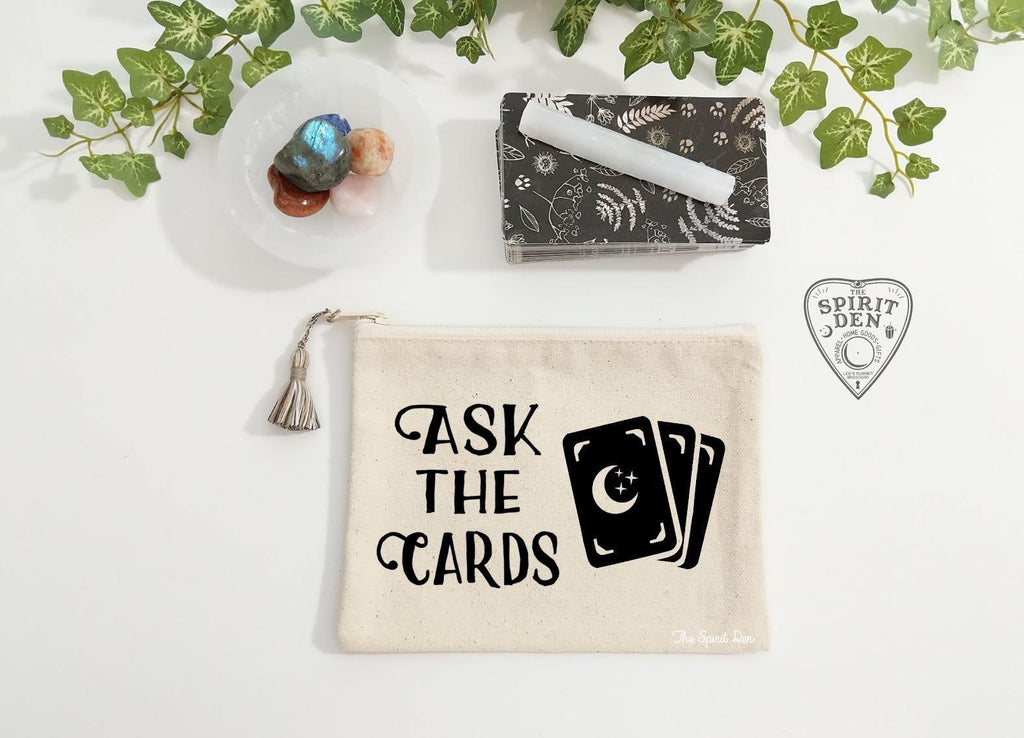 Ask The Cards Canvas Zipper Bag