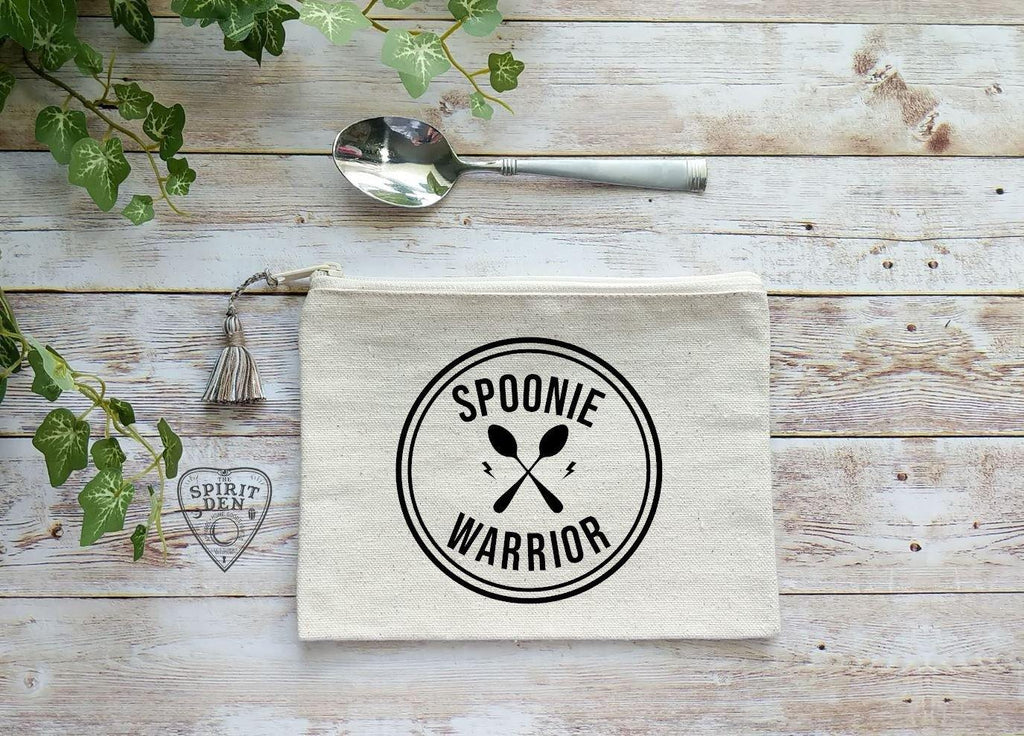 Spoonie Warrior Canvas Zipper Bag