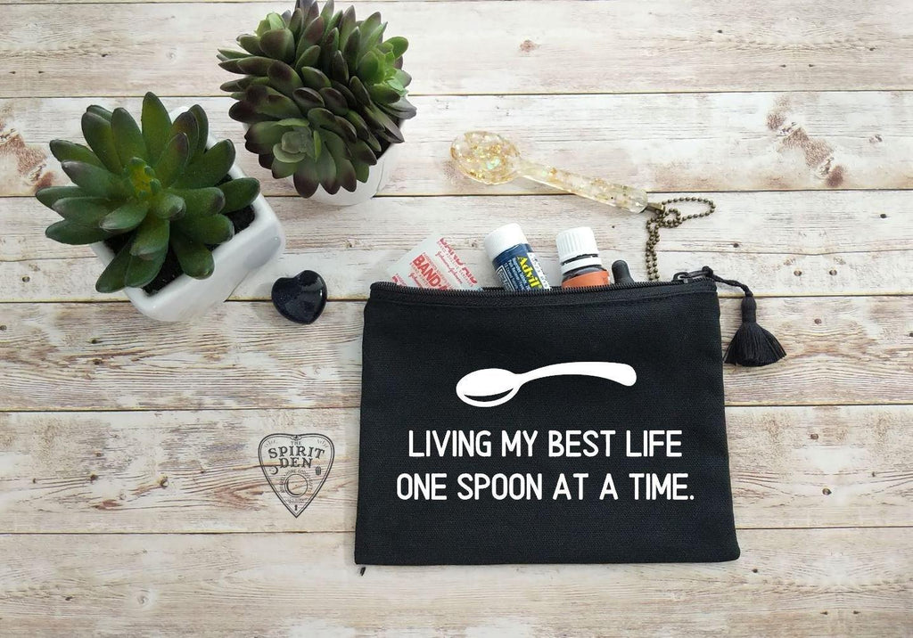 Living My Best Life One Spoon At A Time Canvas Zipper Bag