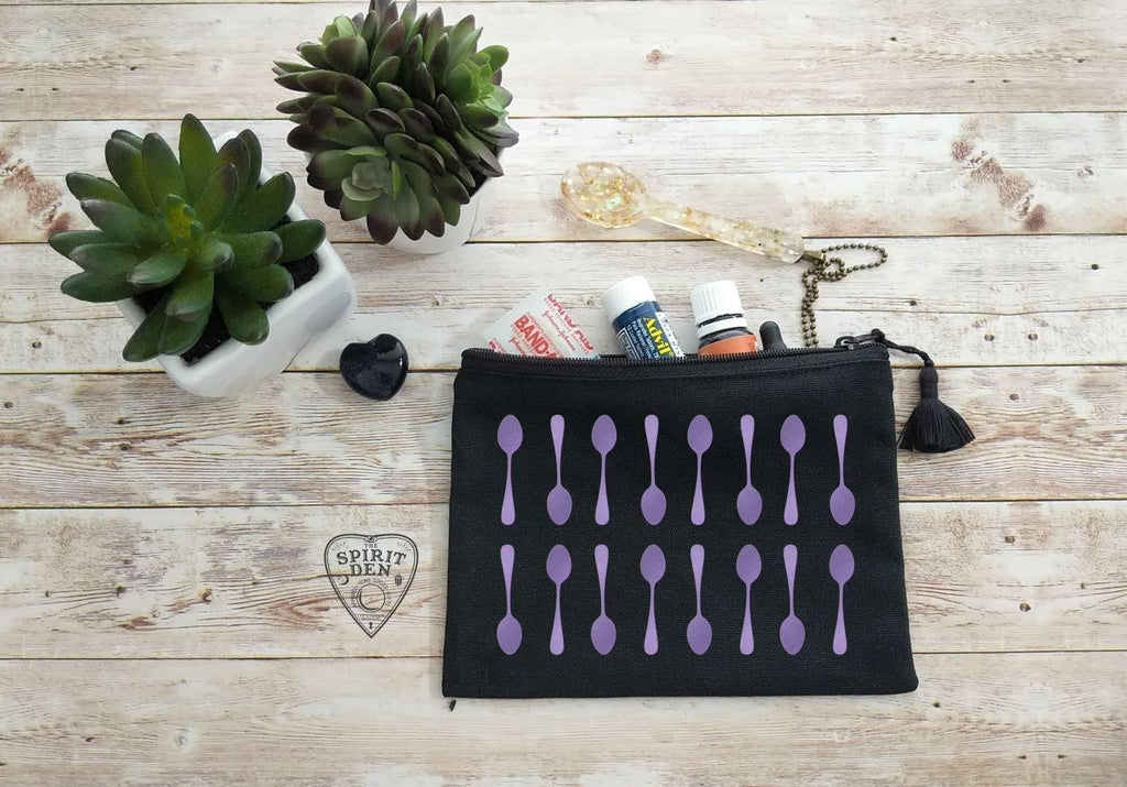 All The Spoons Canvas Zipper Bag