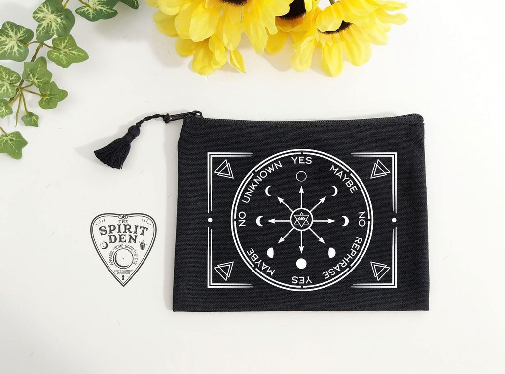Pendulum Chart Black Zipper Bag
