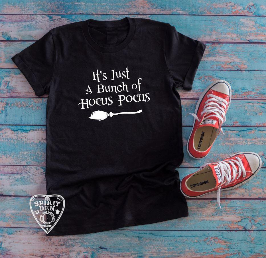 It's Just A Bunch Of Hocus Pocus Broom T-shirt