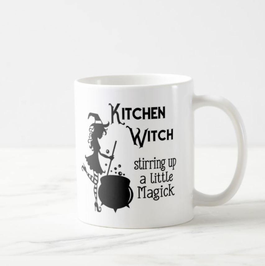 Kitchen Witch - Stirring Up A Little Magic White Mug