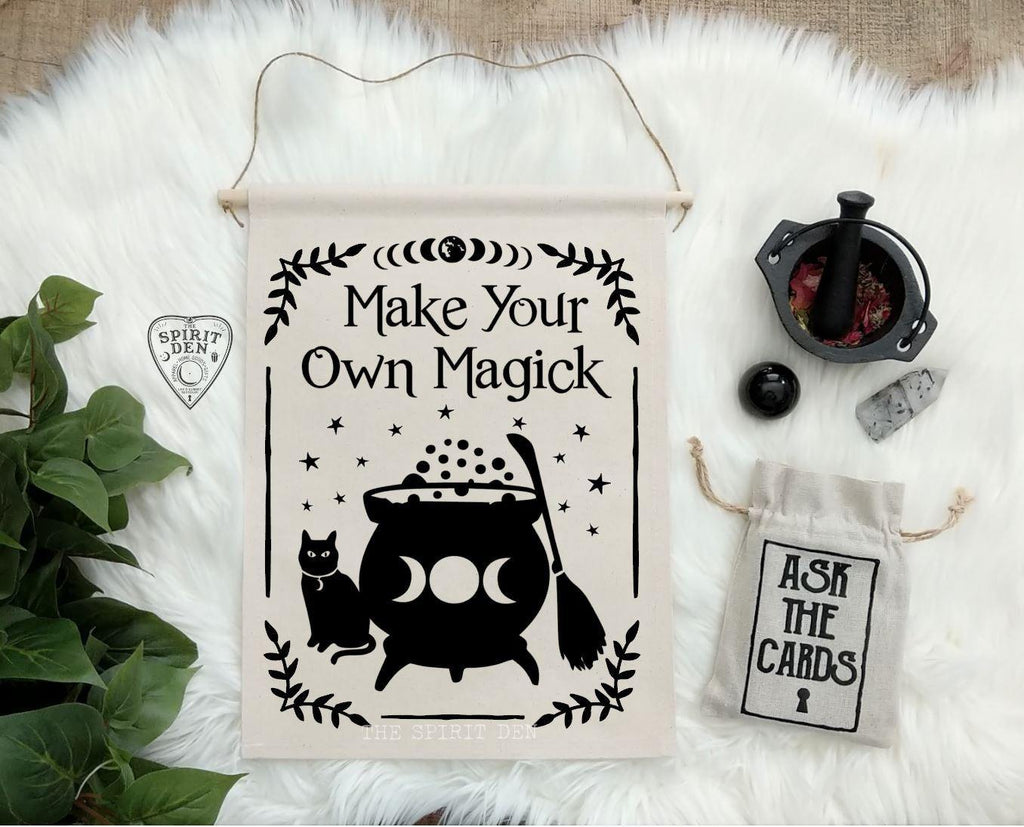 Make Your Own Magick Cotton Canvas Wall Banner