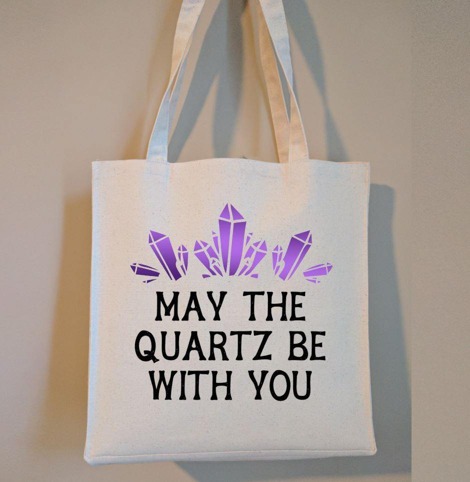 May The Quartz Be With You Cotton Canvas Market Tote Bag