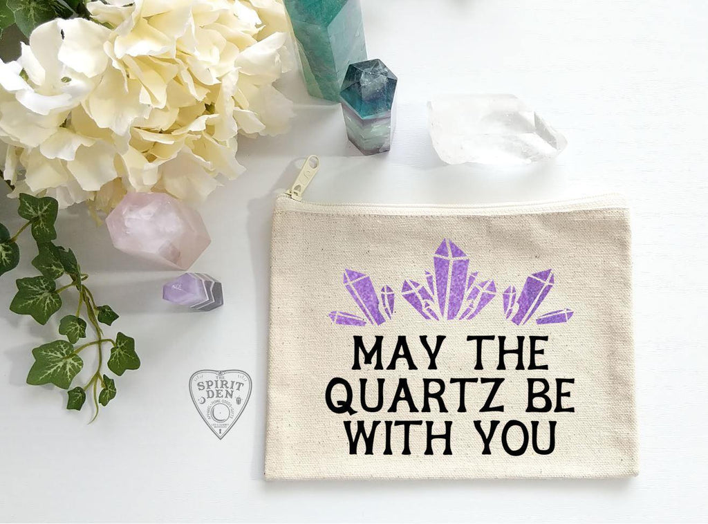 May The Quartz Be With You Canvas Zipper Bag