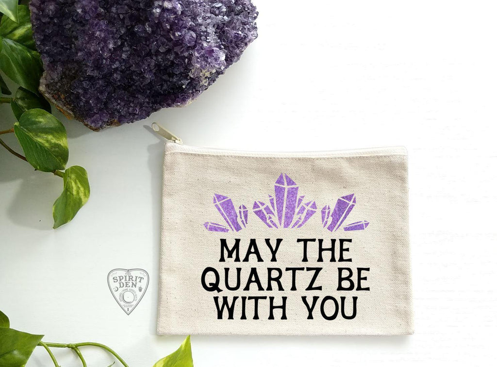 May The Quartz Be With You Canvas Zipper Bag - The Spirit Den
