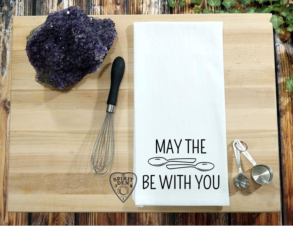 May The Spoons Be With You Spoonie Flour Sack Towel