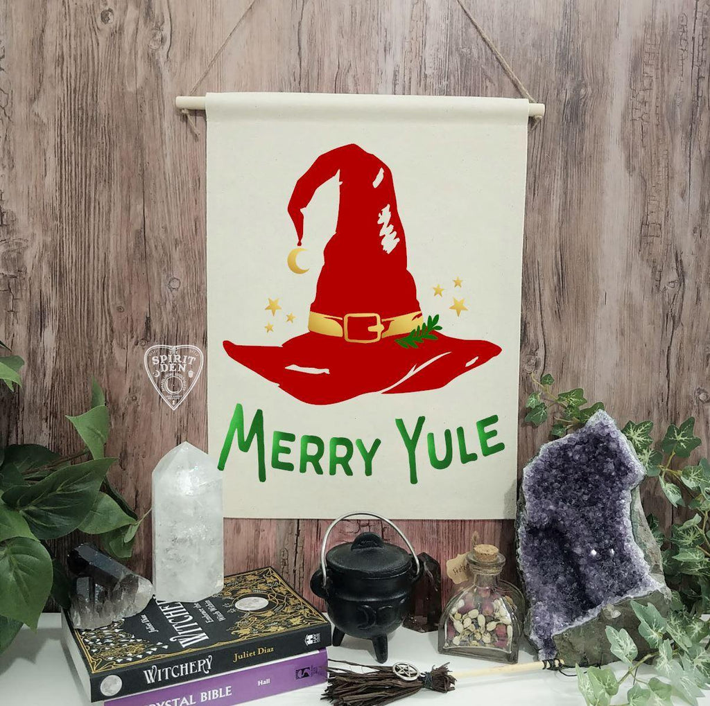 Merry Yule Cotton Canvas Wall Hanging