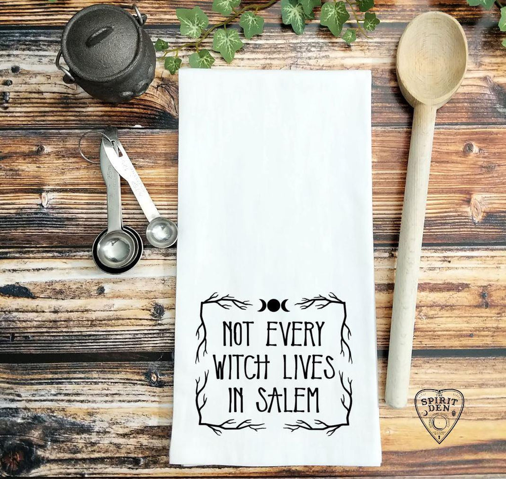 Not Every Witch Lives In Salem Flour Sack Towel