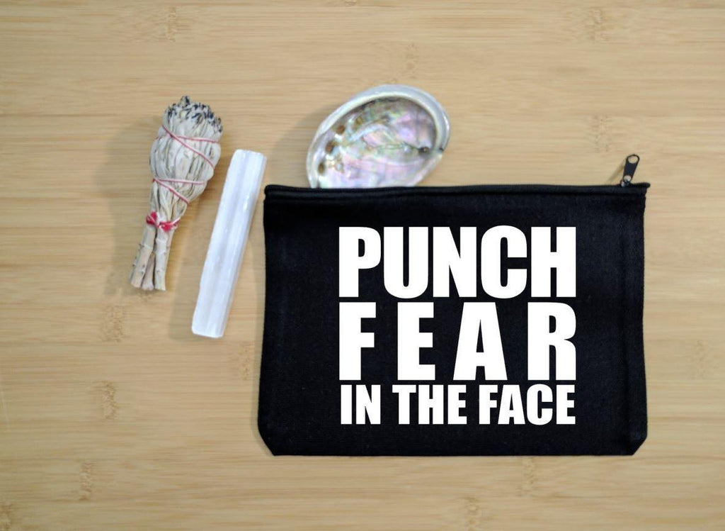 Punch Fear In The Face Black Zipper Bag