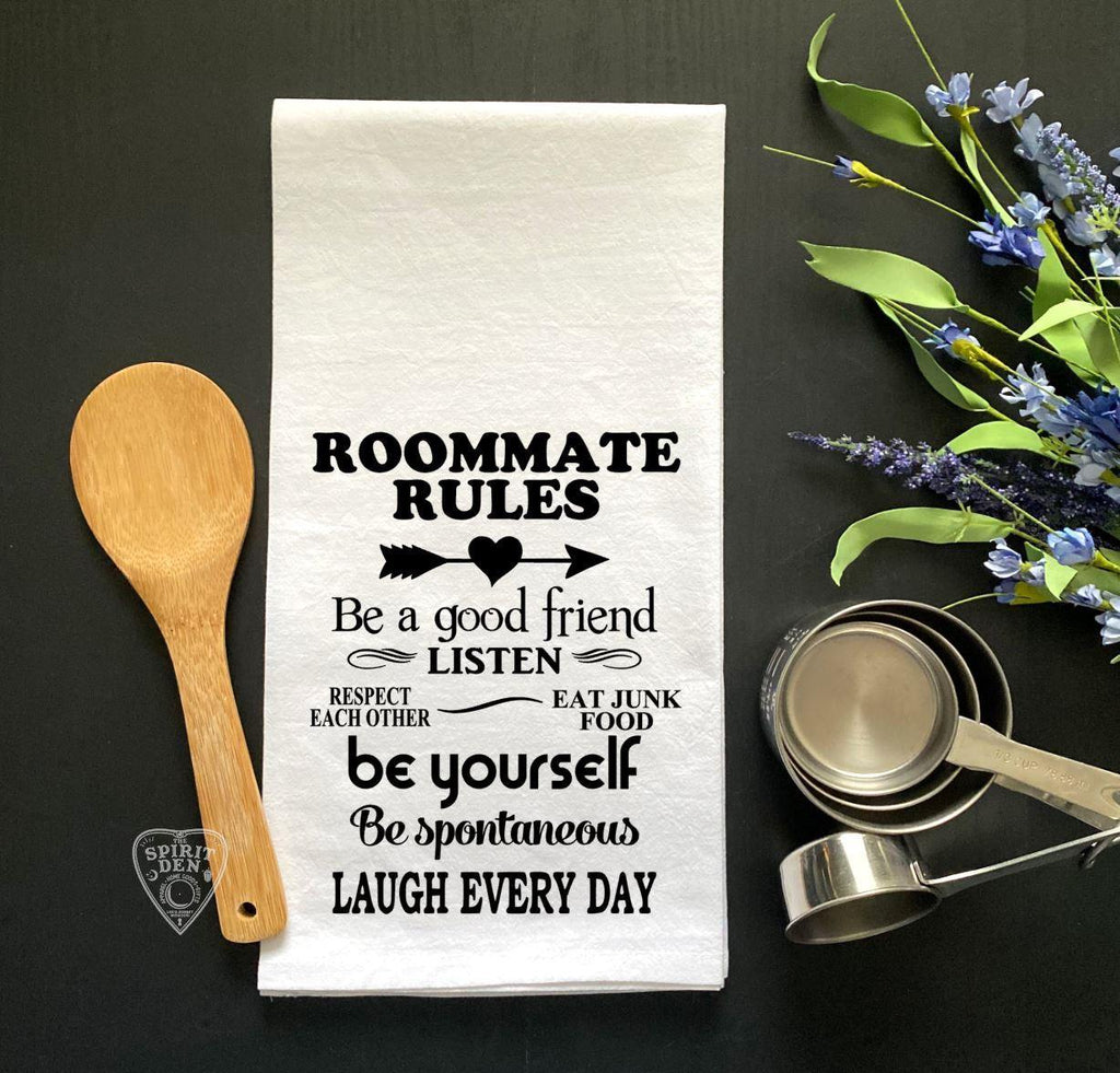 Roommate Rules Flour Sack Towel - The Spirit Den