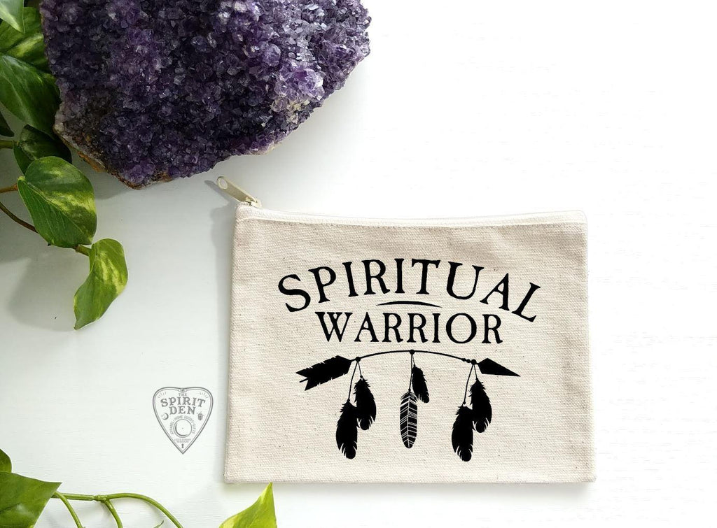 Spiritual Warrior Natural Canvas Zipper Bag