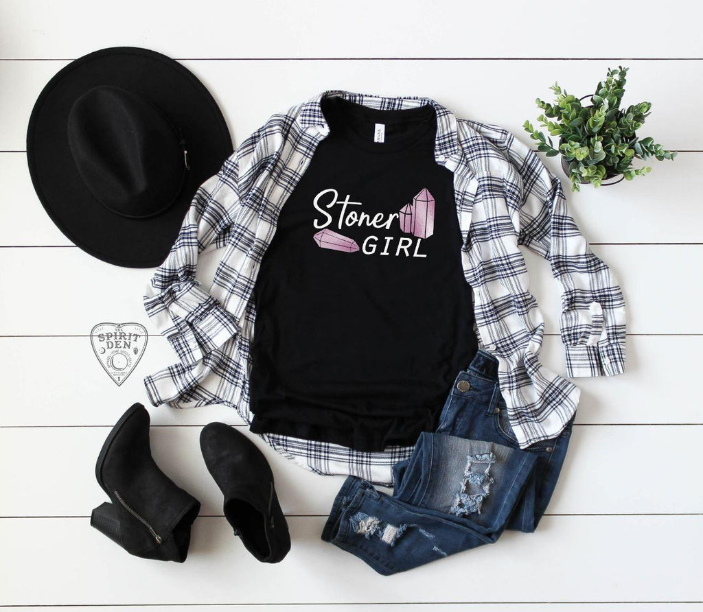 Stoner Girl Crystals T-Shirt Extended Sizes
