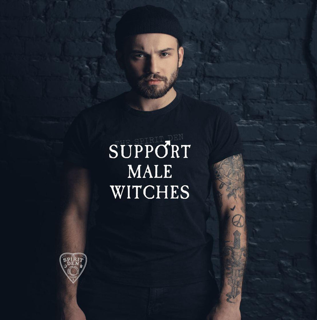 Support Male Witches T-Shirt Extended Sizes