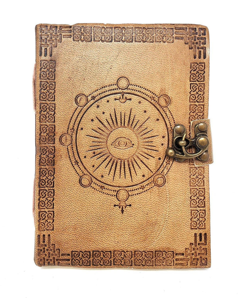 Moon Phases Leather Journal