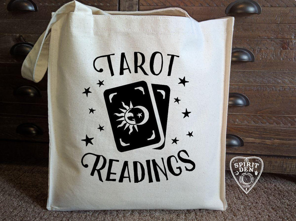 Tarot Readings Cotton Canvas Market Tote Bag - The Spirit Den