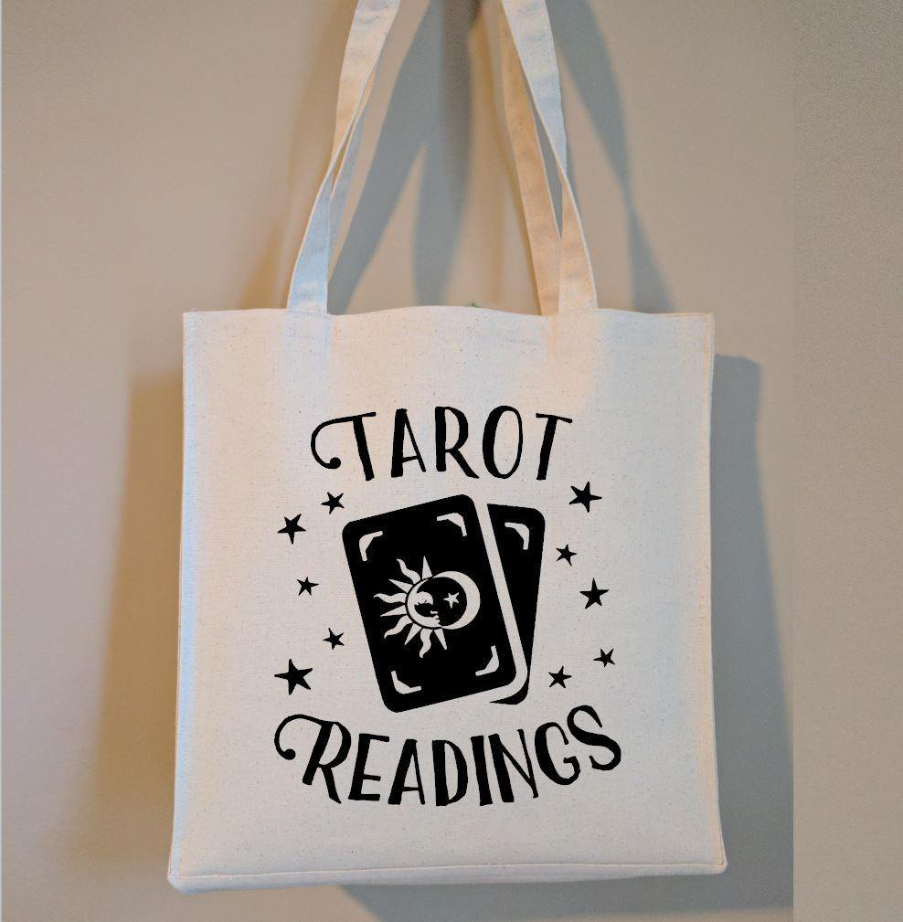 Tarot Readings Cotton Canvas Market Tote Bag