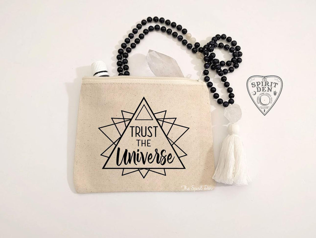 Trust The Universe Canvas Zipper Bag