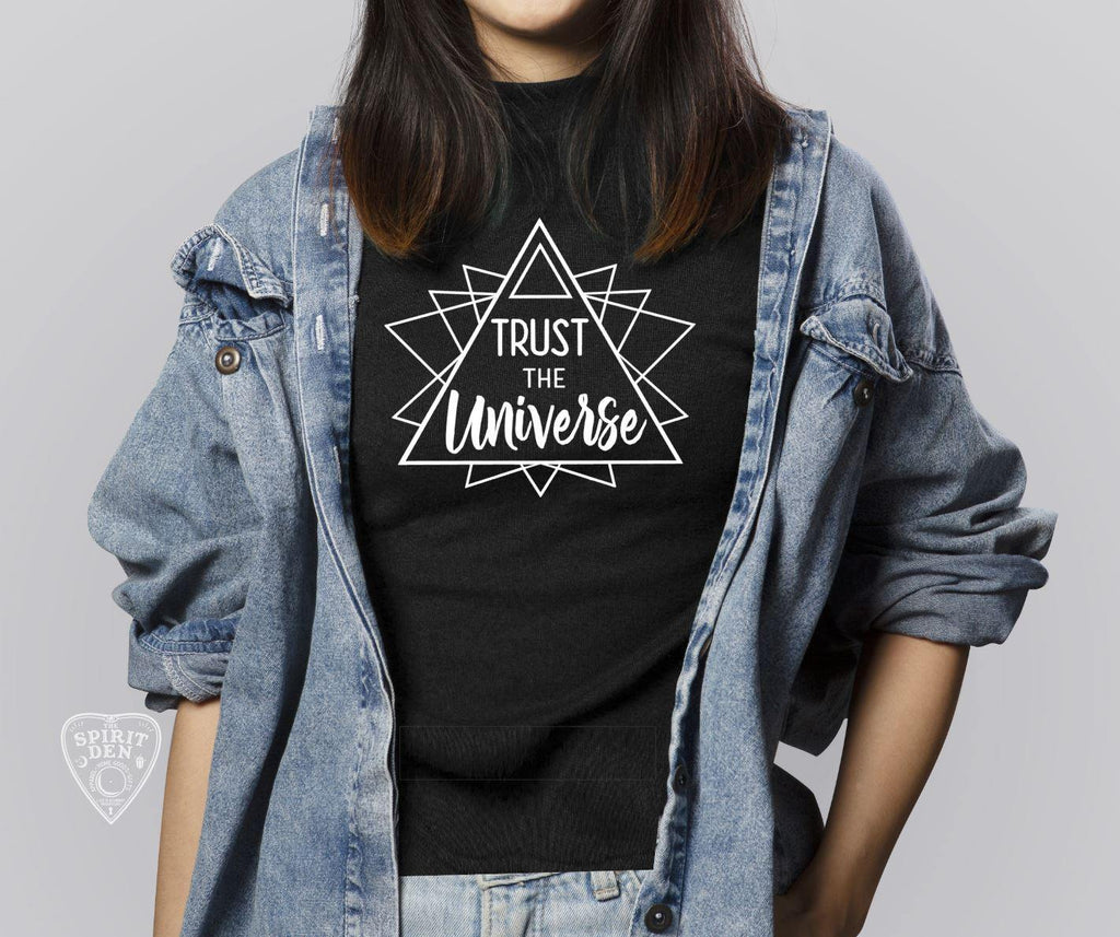 Trust The Universe Geometric Shirt Extended Sizes