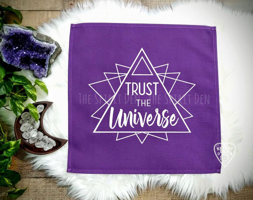 Trust The Universe Purple Altar/Tarot Cloth