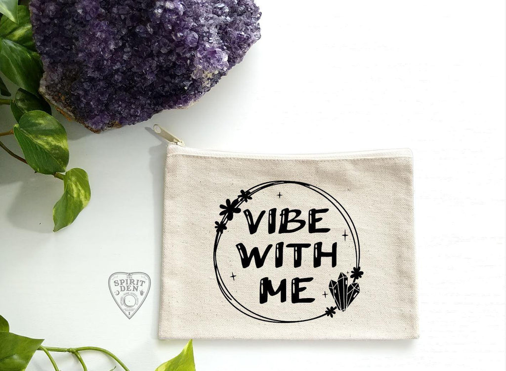 Vibe With Me Canvas Zipper Bag - The Spirit Den