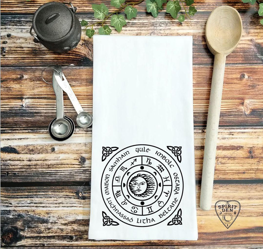 Wheel of The Year Flour Sack Towel