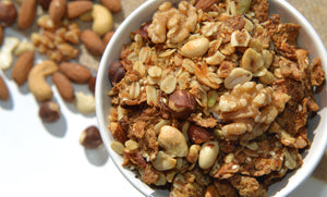 Nut Muesli mixed nuts seeds oats bran honey coconut oil taumarunui