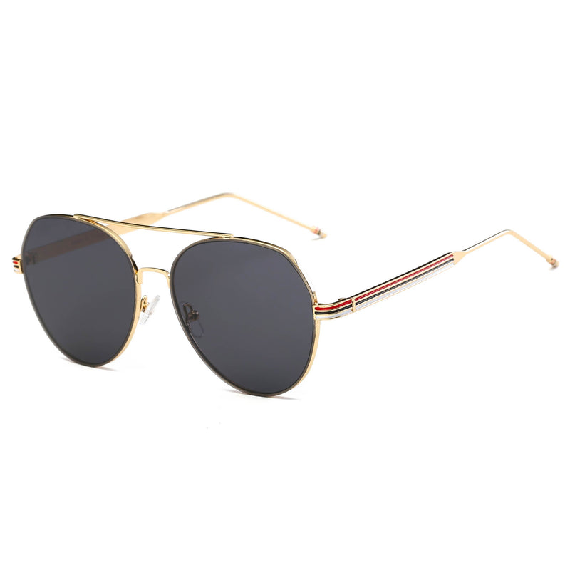 Royal Stripe Aviator Sunglasses
