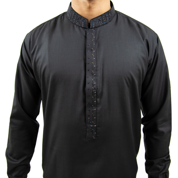 """Breeze"" Embroidered Cotton Kurta"