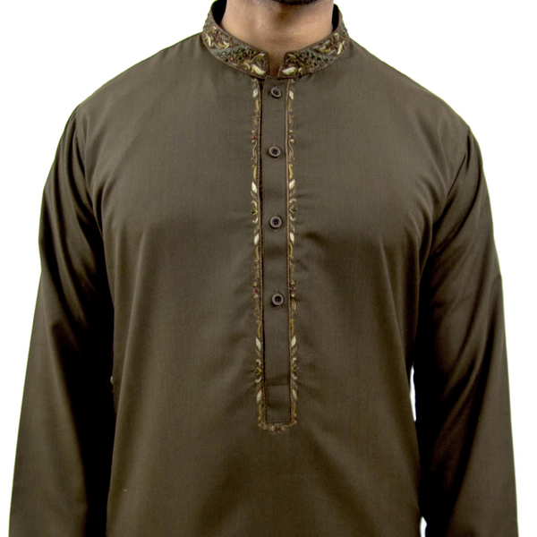 """Kobicha"" Embroidered Cotton Kurta"