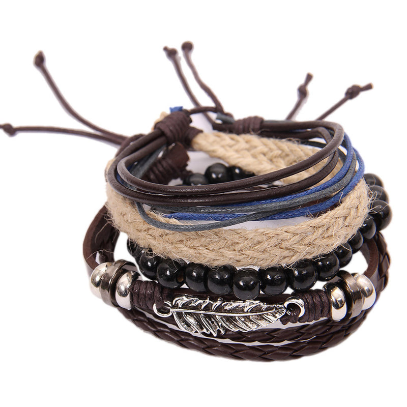 Multi-Layer Leather Wristband