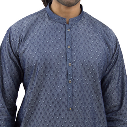"""Cloud"" Denim Kurta"