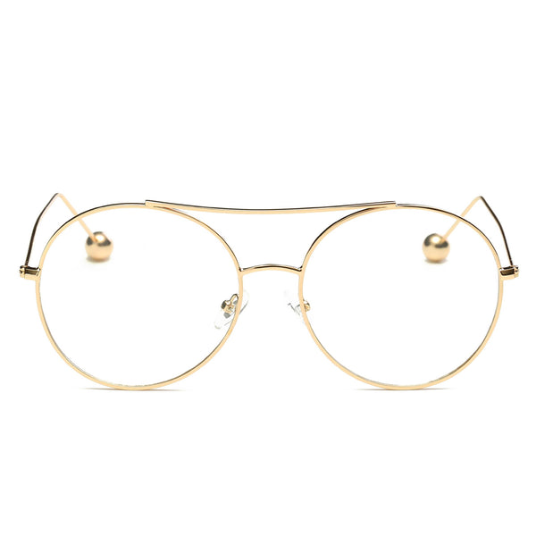 Icon Round Metal Frames with Clear Lens