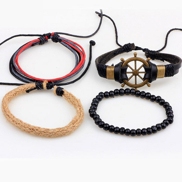 Multi-Layer Helm Bracelet Set